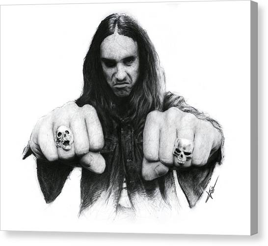 Cliff Burton Canvas Print - Cliff Burton by Christian Klute