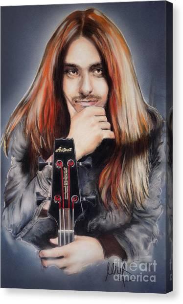 Cliff Burton Canvas Print - Cliff Burton by Melanie D