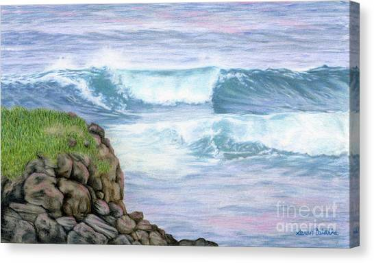 Ocean Sunrises Canvas Print - Cliff By The Sea by Sarah Batalka