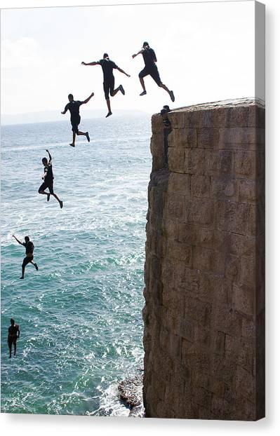 Cliff Diving Canvas Print