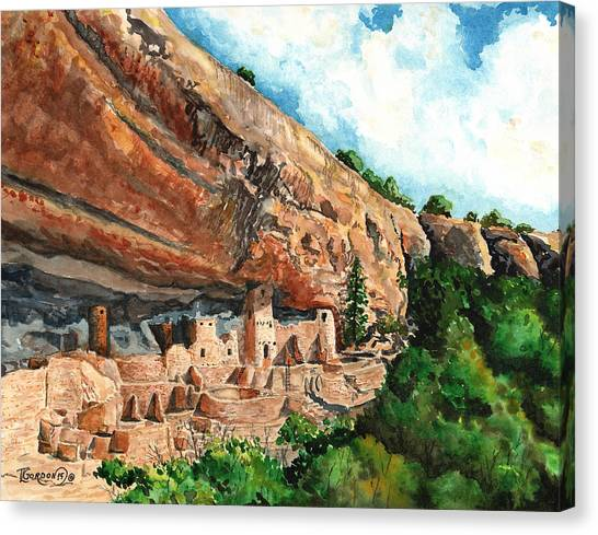 Verde Canvas Print - Cliff Palace Mesa Verde by Timithy L Gordon
