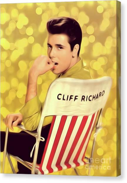 Bluegrass Canvas Print - Cliff Richard, Pop Legend by Mary Bassett