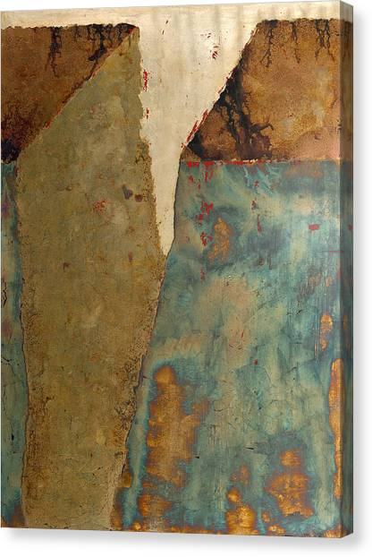 Cliff Two Canvas Print by Wayne Berger