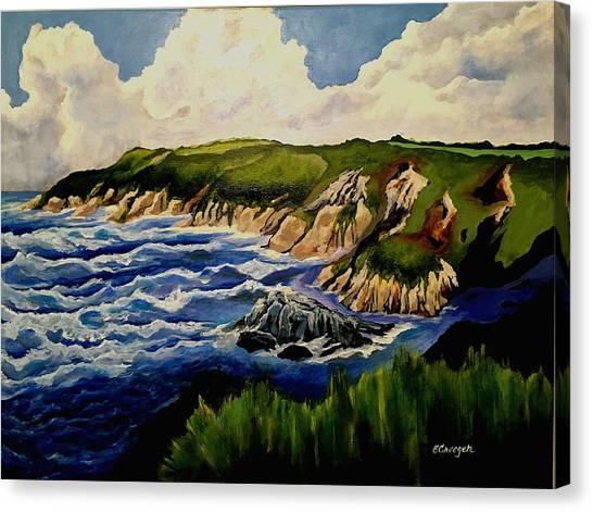 Cliffs And Sea Canvas Print