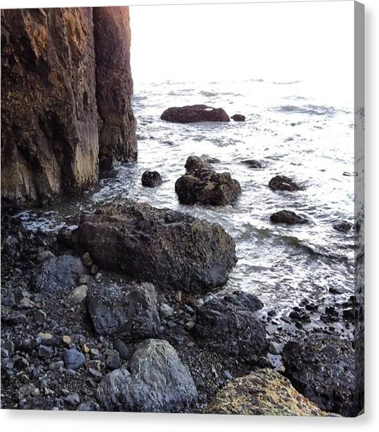 Ocean Cliffs Canvas Print - #cliffs #boulders #rocks #ocean #sea by Cassandra Eilidh