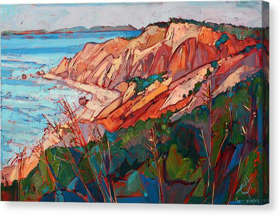 Marthas Vineyard Canvas Print - Cliffs In Color by Erin Hanson