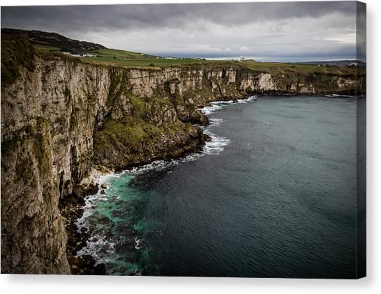 Cliffs Near Larrybane Canvas Print