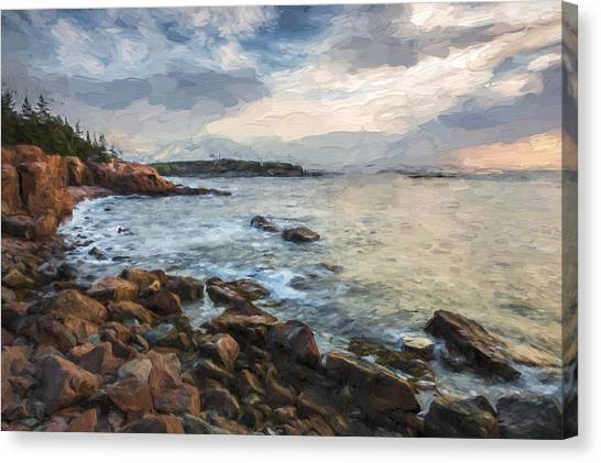 Cliffs Of Acadia II Canvas Print by Jon Glaser