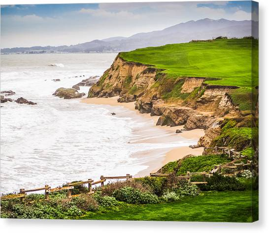 The Cliffs At Half Moon Bay Canvas Print