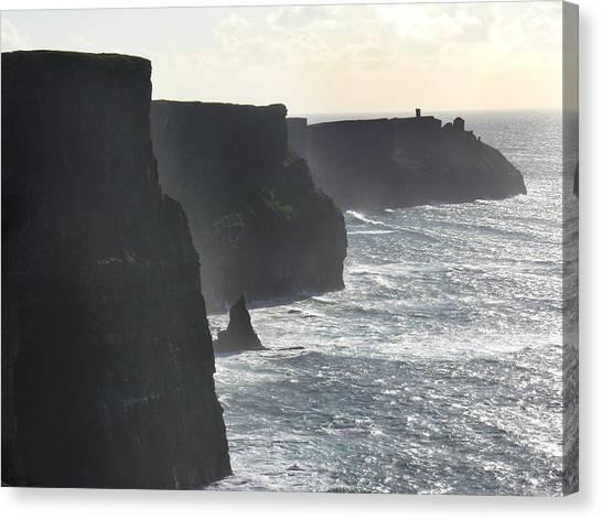 Ocean Cliffs Canvas Print - Cliffs Of Moher 1 by Mike McGlothlen