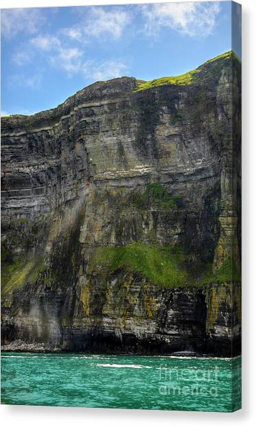 The Cliffs Of Moher Canvas Print - Cliffs Of Moher From The Sea Close Up by RicardMN Photography