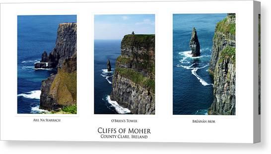 Cliffs Of Moher Ireland Triptych Canvas Print