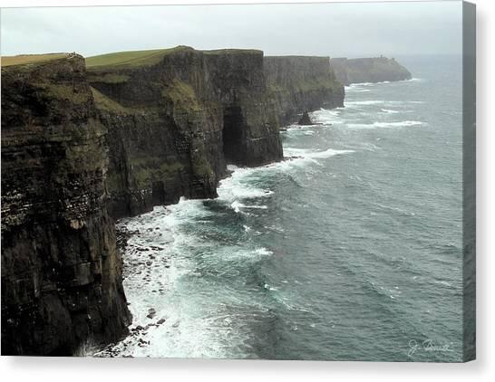 Cliffs Of Moher Canvas Print by Joe Bonita