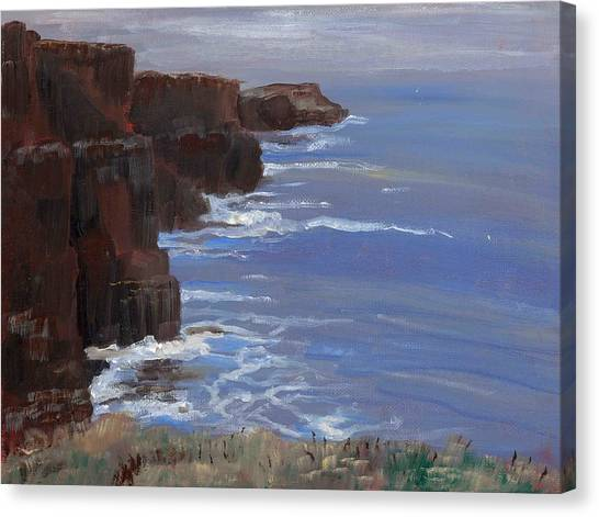 Cliffs Of Mohr Canvas Print by Cathy France