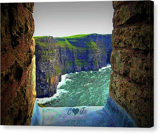 Cliffs Personalized Canvas Print