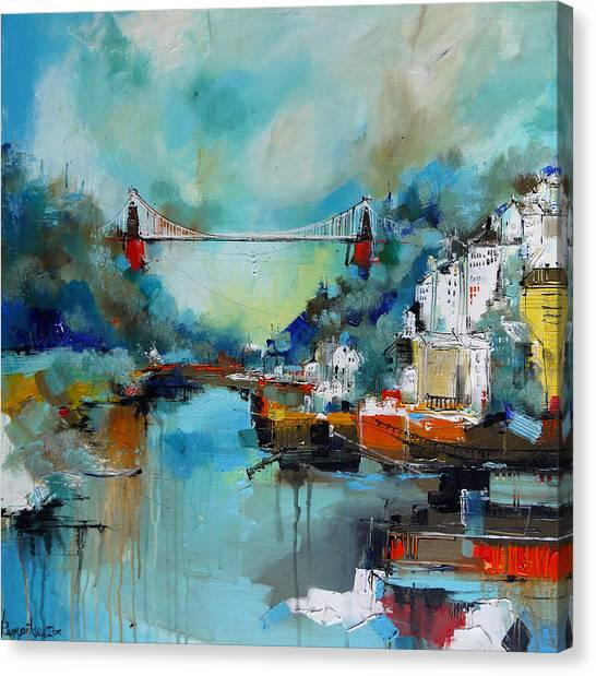 Bristol Canvas Print - Clifton Suspension Bridge Bristol England by Irina Rumyantseva