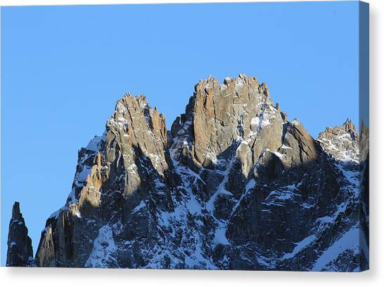 Ice Climbing Canvas Print - Climbers Sunlit Challenge by Pat Speirs