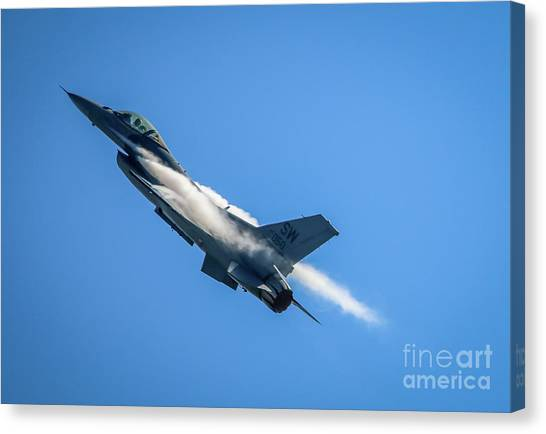 Canvas Print featuring the photograph Climbing Falcon by Tom Claud