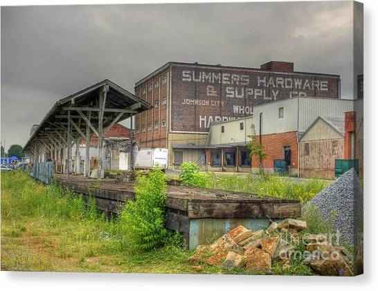 Clinchfield Train Station Platform Canvas Print