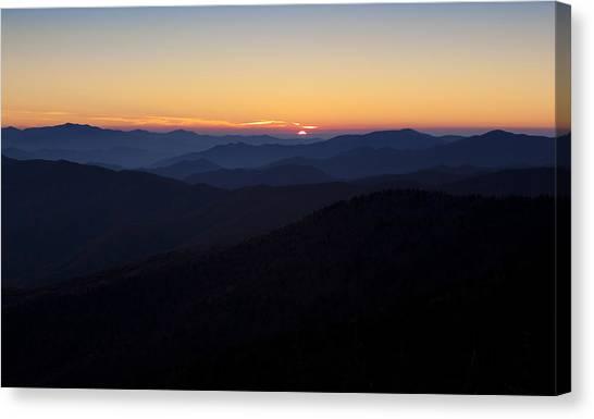 Clingmans Dome Sunset Canvas Print