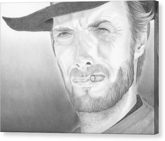 Clint Canvas Print by Christopher Brooks