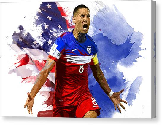 Mls Canvas Print - Clint Dempsey by Semih Yurdabak