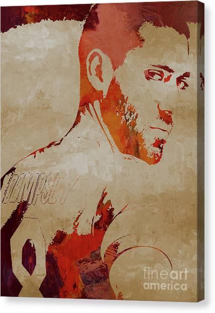 Clint Dempsey Canvas Print - Clint Dempsey Soccer by Gull G