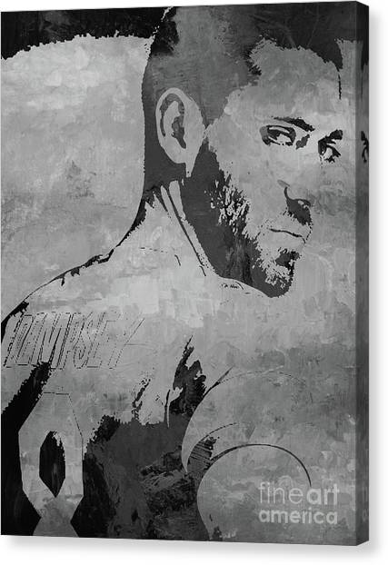 Clint Dempsey Canvas Print - Clint Dempsey Soccer Player by Gull G