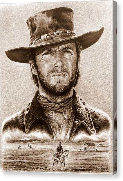 Clint Eastwood The Stranger Canvas Print