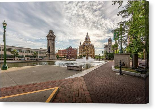 Syracuse University Canvas Print - Clinton Square by Everet Regal