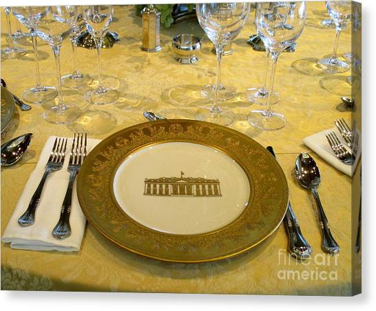 Bill Clinton Canvas Print - Clinton State Dinner 2 by Randall Weidner