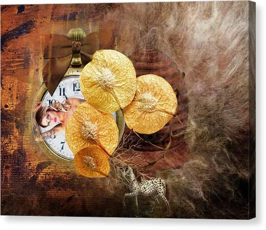 Clock Girl Canvas Print