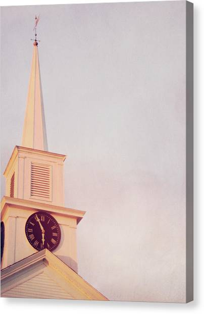Clock Steeple Canvas Print by JAMART Photography