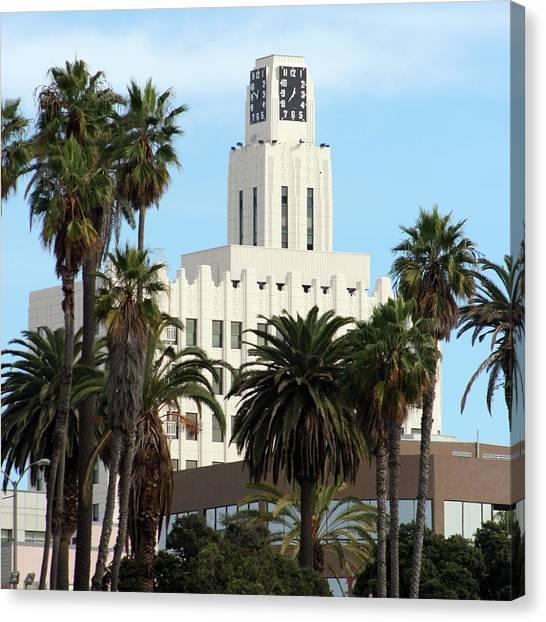 Clock Tower Building, Santa Monica Canvas Print