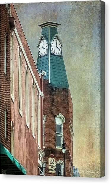 Clock Tower Downtown Statesville North Carolina Canvas Print