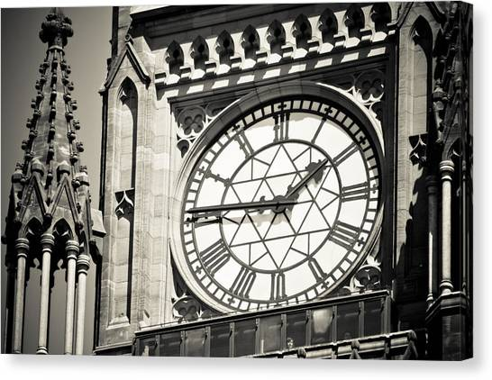 Clock Tower Canvas Print by Martina Heart
