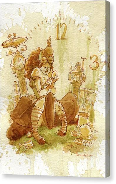 Steampunk Canvas Print - Clockwork by Brian Kesinger