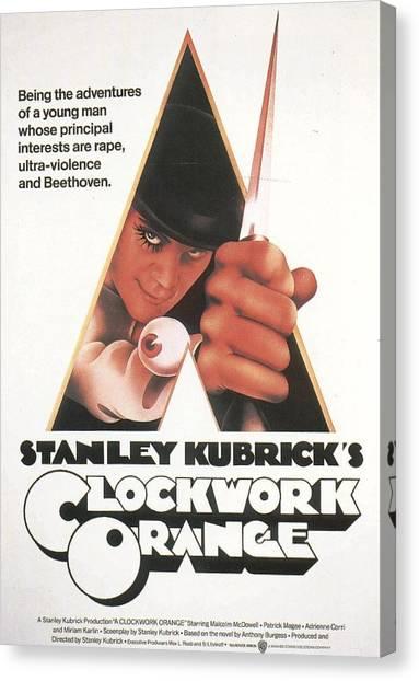 Clockwork Orange Canvas Print - Clockwork Orange by Geek N Rock