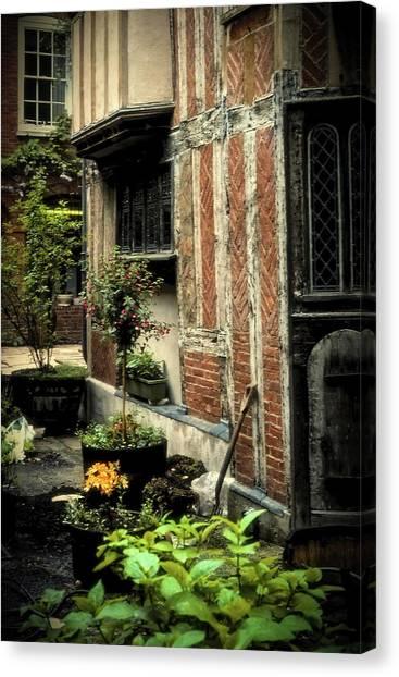 Cloister Garden - Cirencester, England Canvas Print