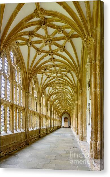 Cloisters, Wells Cathedral Canvas Print