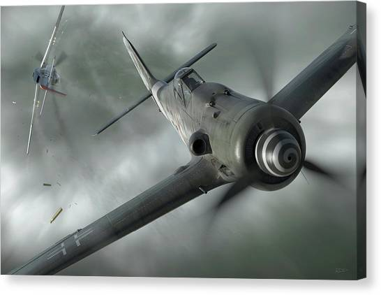 Aircraft Canvas Print - Close Call by Robert Perry