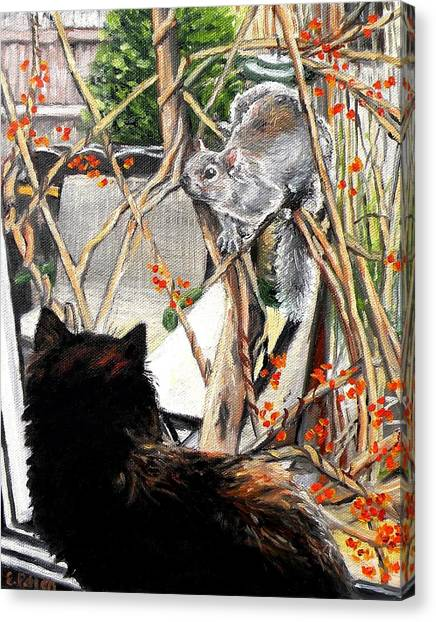 Bittersweet Canvas Print - Close Encounter by Eileen Patten Oliver