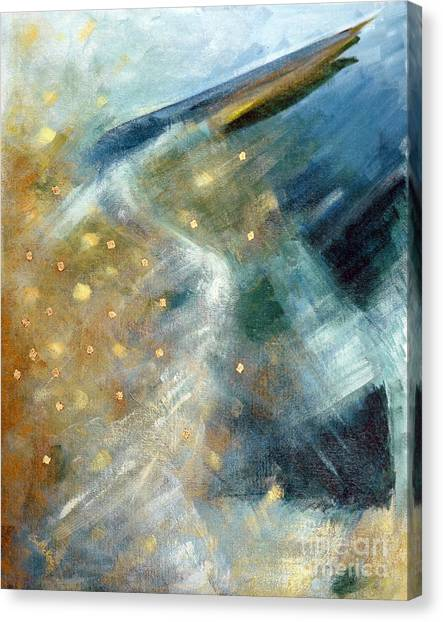 Close Encounter With A Great Blue Canvas Print