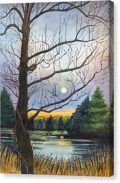 Close To Dusk Canvas Print