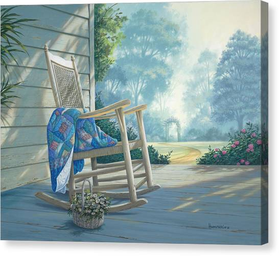 Chairs Canvas Print - Close To My Heart by Michael Humphries