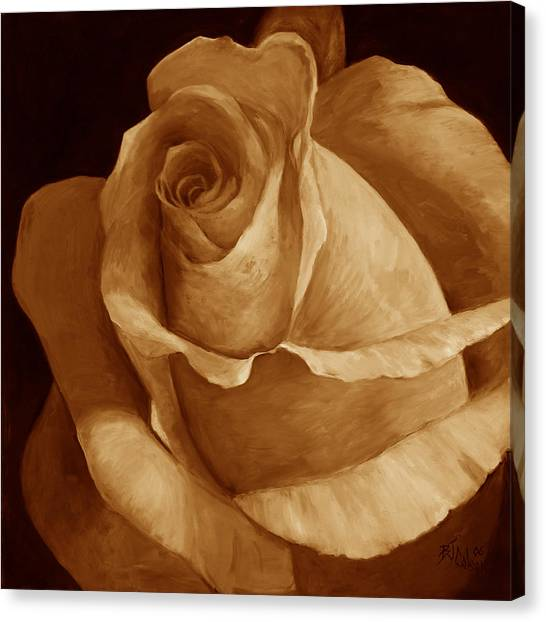Close To Perfection Sepia Canvas Print by Billie Colson