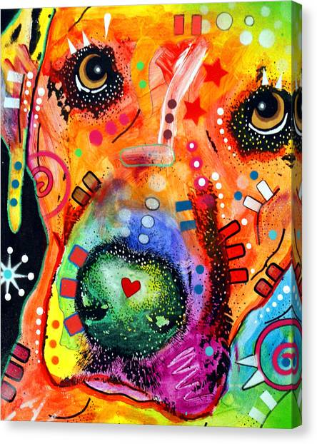 Prairie Dogs Canvas Print - Close Up Lab Warpaint by Dean Russo Art