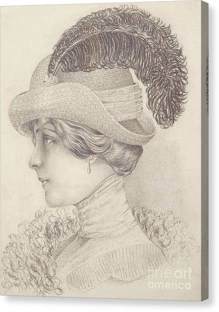 Fashion Plate Canvas Print - Close-up Of A Young Woman, Austria, 1910 by Austrian School