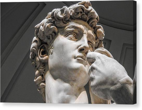Close Up Of David By Michelangelo Canvas Print