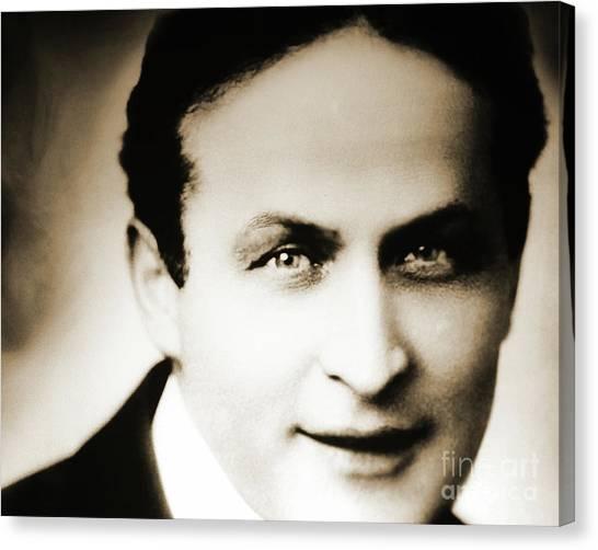 Jewish Artist Canvas Print - Close Up Of Harry Houdini by American School